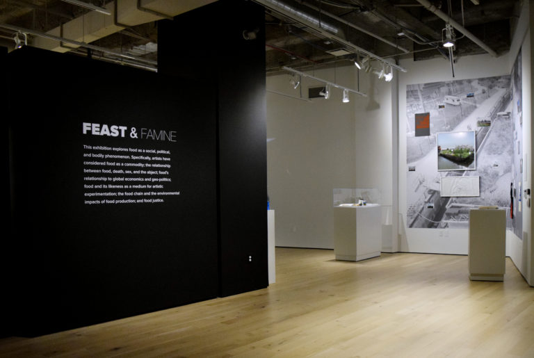Installation view of Feast & Famine