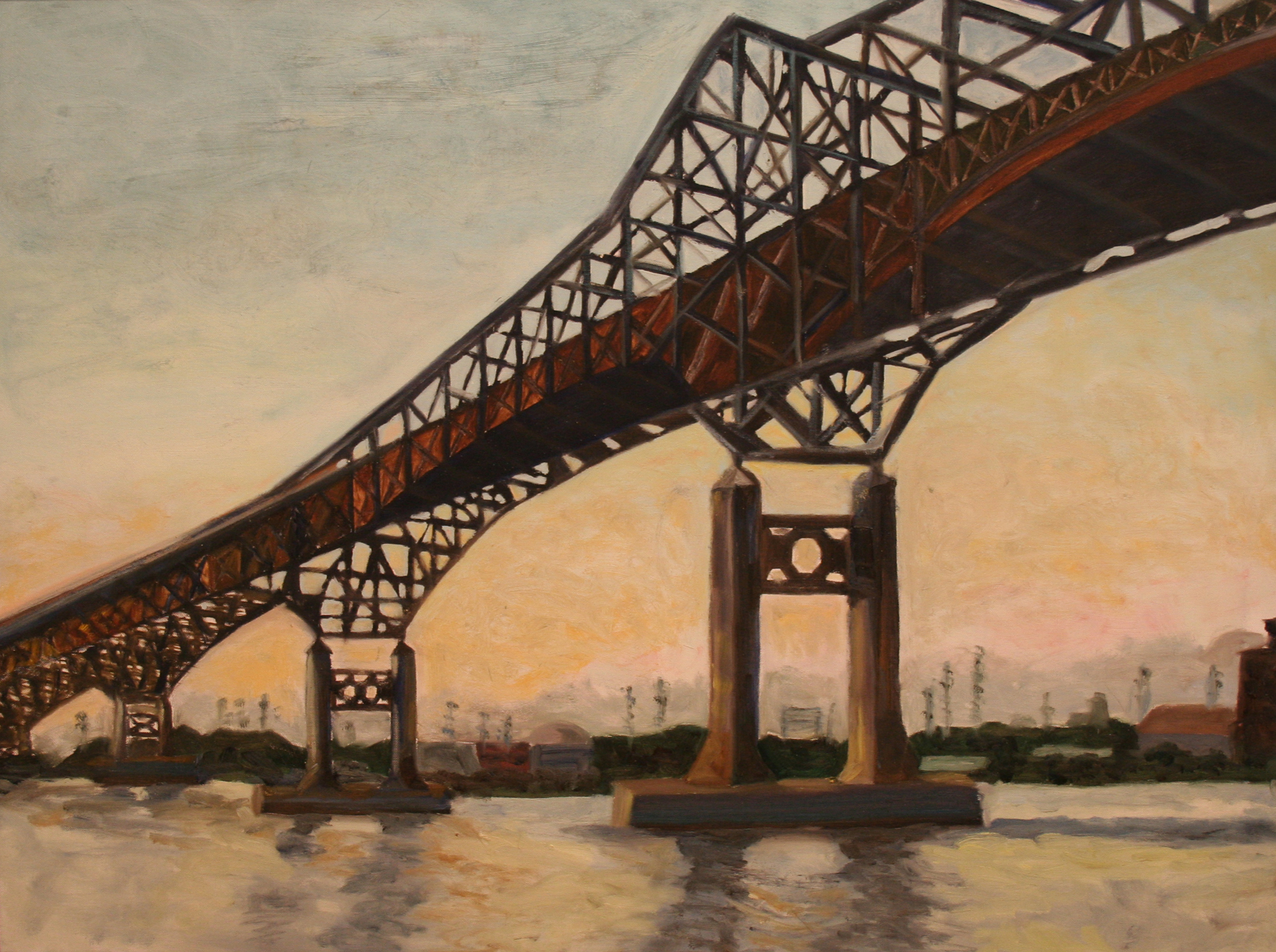 A painting of the Pulaski Skyway
