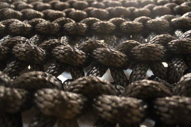 Close up shot of braided rope