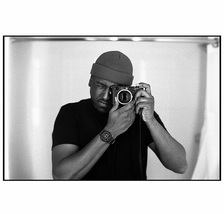 black and white self portrait of photographer Chrystofer Davis