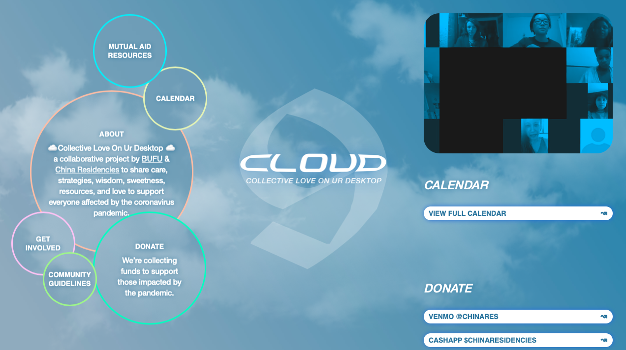 Screen grab of the Cloud website