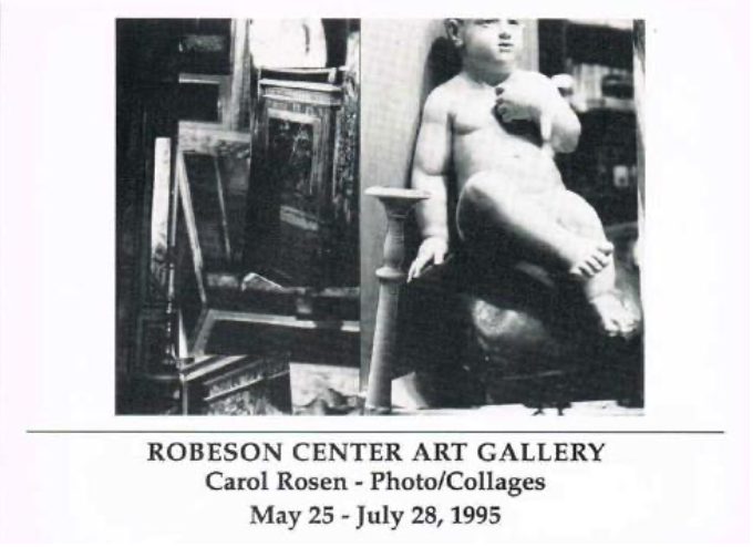 Poster for the 1995 Carl Rosen Photo/Collage exhibition