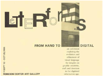 PRG Invite for the exhibition Letterforms