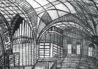 Architectural interior illustration